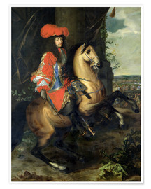 Póster Equestrian Portrait of Louis XIV