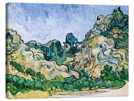 Lienzo  The Alpilles - Vincent van Gogh