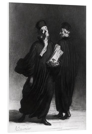 Cuadro de PVC  Two Lawyers - Honoré Daumier