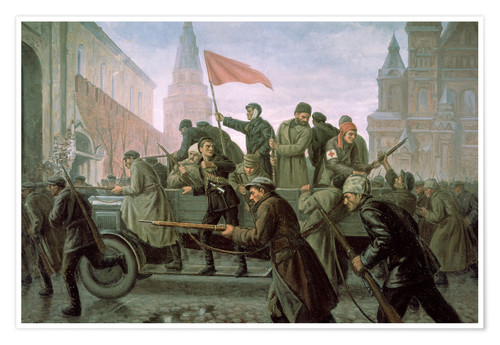 Póster The Taking of the Moscow Kremlin in 1917