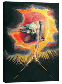 Lienzo  El gran arquitecto - William Blake