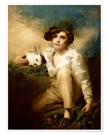 Póster  Boy and Rabbit - Henry Raeburn