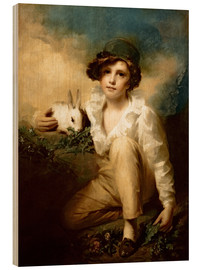Cuadro de madera  Boy and Rabbit - Henry Raeburn