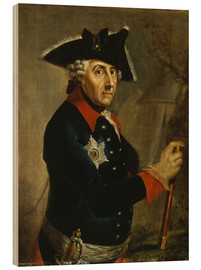 Cuadro de madera  Frederick the Great of Prussia - Anton Graff