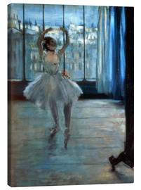 Lienzo  Dancer in Front of a Window - Edgar Degas