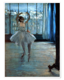 Póster  Dancer in Front of a Window - Edgar Degas