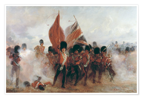 Póster The Colours: advance of the Scots Guards at the Alma
