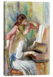Lienzo  Young Girls at the Piano - Pierre-Auguste Renoir