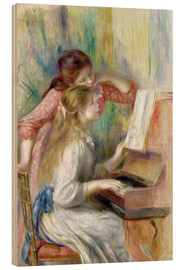 Cuadro de madera  Young Girls at the Piano - Pierre-Auguste Renoir