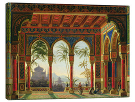 Lienzo  Stage design for the opera 'Ruslan and Lyudmila' by M. Glinka - Andreas Leonhard Roller