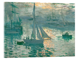 Cuadro de metacrilato  Sunrise - Claude Monet
