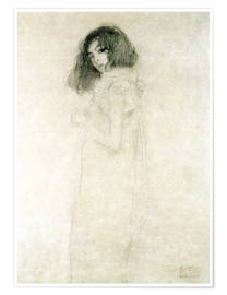 Póster  Portrait of a young woman - Gustav Klimt