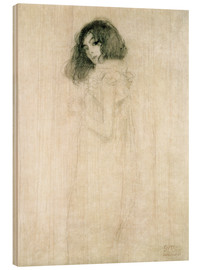 Madera  Portrait of a young woman - Gustav Klimt