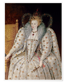 Póster  Queen Elizabeth I of England and Ireland - English School