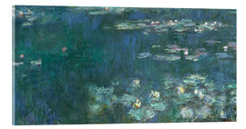 Cuadro de metacrilato  Water Lilies, Green Reflections 2 - Claude Monet