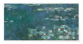 Póster  Water Lilies, Green Reflections 2 - Claude Monet