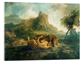 Cuadro de metacrilato  Leopards at Play - George Stubbs