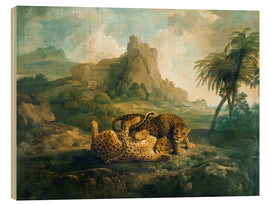 Cuadro de madera  Leopards at Play - George Stubbs