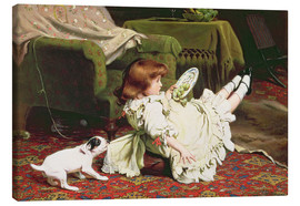 Lienzo  Time to Play - Charles Burton Barber