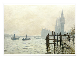Póster  The Thames below Westminster - Claude Monet