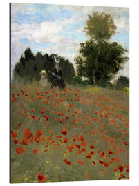 Cuadro de aluminio  Poppy field at Argenteuil - Claude Monet