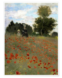 Póster Poppy field at Argenteuil