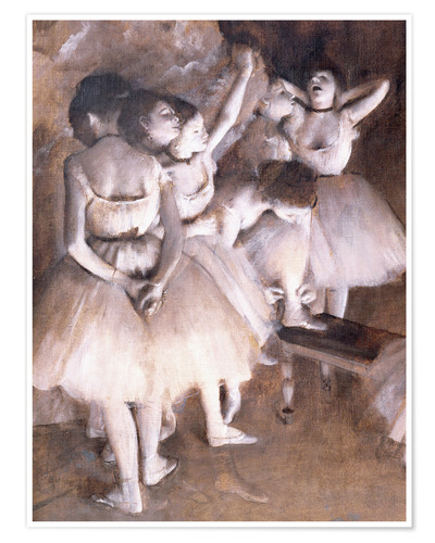 Póster Ballet rehearsal on stage