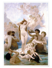 Póster  El nacimiento de Venus - William Adolphe Bouguereau