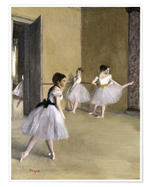 Póster  Ballet room at the Peletier - Edgar Degas