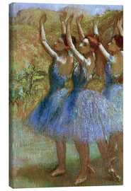 Lienzo  Three dancers in blue - Edgar Degas