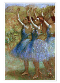 Póster Three dancers in blue