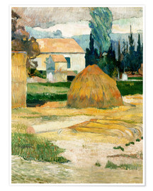 Póster  Farm House in Arles - Paul Gauguin