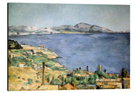 Cuadro de aluminio  Bay of Marseille - Paul Cézanne