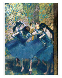 Póster  The Blue Dancers - Edgar Degas
