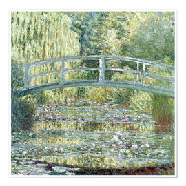 Póster  water lily pond symphony in green - Claude Monet