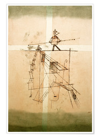 Póster  Tightrope Walker - Paul Klee