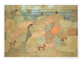 Póster  Landscape with Donkeys - Paul Klee