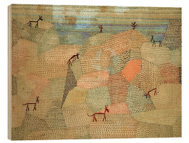 Madera  Landscape with Donkeys - Paul Klee