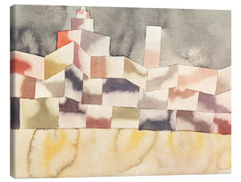 Lienzo  Architecture in the Orient - Paul Klee