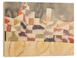 Cuadro de madera  Architecture in the Orient - Paul Klee