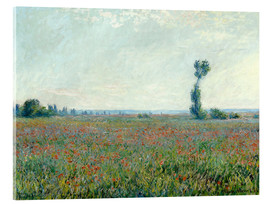 Cuadro de metacrilato  Field with poppies - Claude Monet