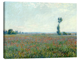 Lienzo  Field with poppies - Claude Monet