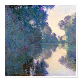 Póster  Morning on the Seine - Claude Monet