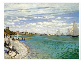 Póster  Regatta at Sainte-Adresse - Claude Monet