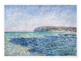 Póster  shadows on the sea at Pourville - Claude Monet