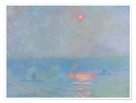 Póster  Waterloo Bridge - Claude Monet