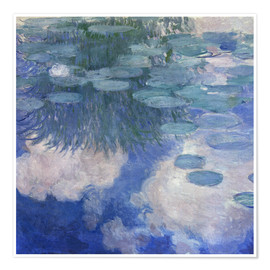Póster  Waterlilies - Claude Monet