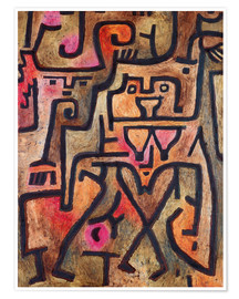 Póster  Forest witches - Paul Klee
