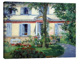 Lienzo  Country house in Rueil - Edouard Manet