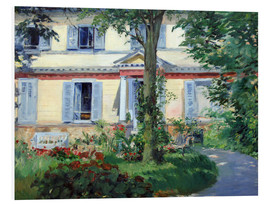 Cuadro de PVC  Country house in Rueil - Edouard Manet